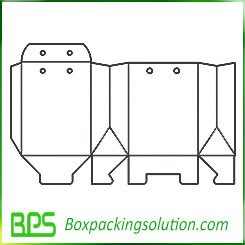 Snap bottom Electronic packaging box template