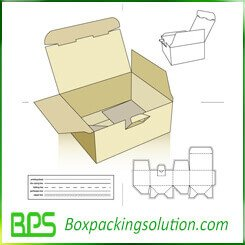 auto locked bottom cardboard box die line template