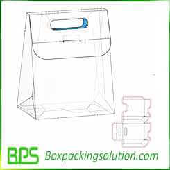 bag shape box design template design
