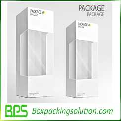 bottle packaging box design template