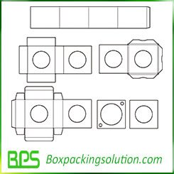 box with hole design template