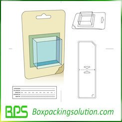 cardboard blister packaging box die line template