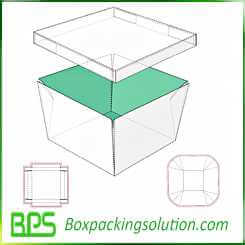 cardboard box with seperate lid design template
