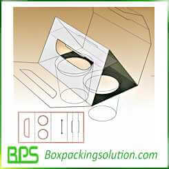 cardboard cup holder design template