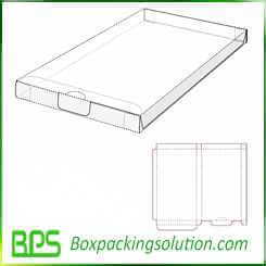 cardboard file keep box design template