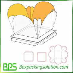 cardboard flower shape gift box design