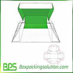 cardboard foldable box design template