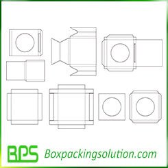 cardboard tray and insert packaging templates