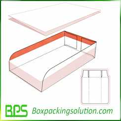 cardboard tray design template