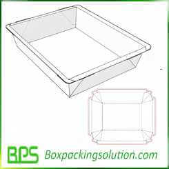 cardboard tray foldable design
