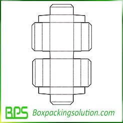 clamshell shape paperboard folding box template