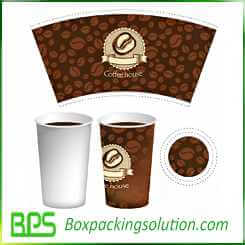 coffee cup take away packaging template