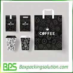 coffee packaging bag and coffe cup design