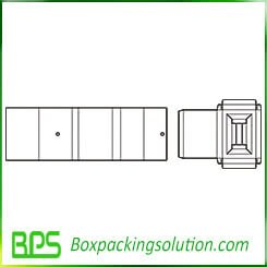 corrugated box with insert template