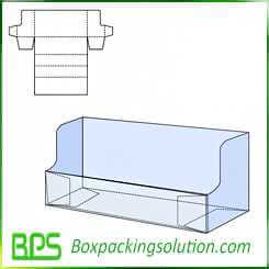 corrugated display box design template