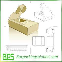 corrugated folding box die line template