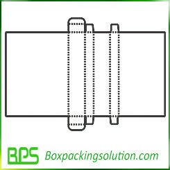 corrugated folding carton template