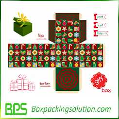 custom christmas packaging box design template
