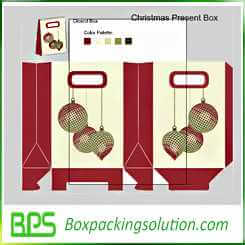 custom christmas present box design template