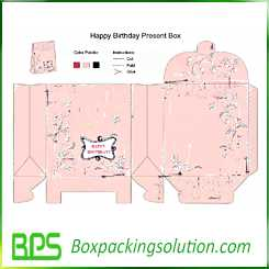 custom happy birthday present box design template