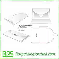 custom paper envelop bag design template