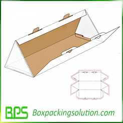 custom triangle shape corrugated box design