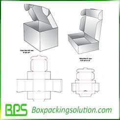 customized cardboard folding box design template