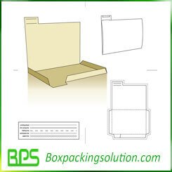 documents packaging box die line template