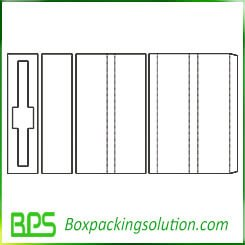 folding box insert template