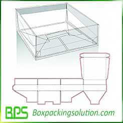gable top snap bottom box design templates