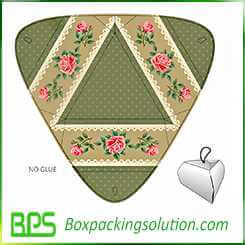 gift box design triangle shape