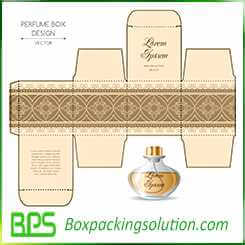 golden printed paper boxes for perfume bottle