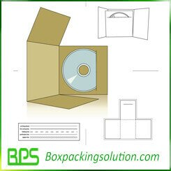 high quality CD packaging folder die line templates