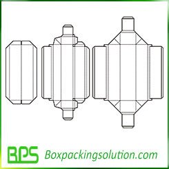 household packaging box template design