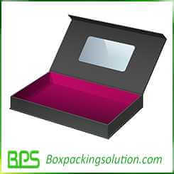 magnetic closure rigid gift box design