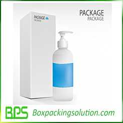 medical bottle packaging box design template