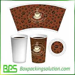 medium size coffee cup packaging template