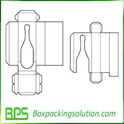 milk bottle packaging box template