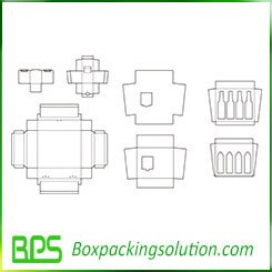 milk bottle packaging carton template