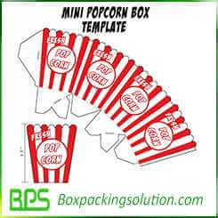 mini popcorn box template design