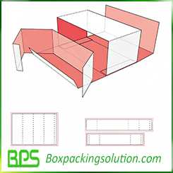 paperboard box with insert design template