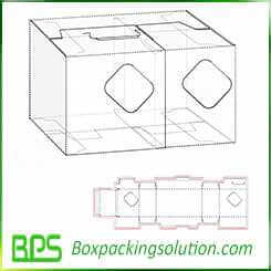 paperboard box with window design template