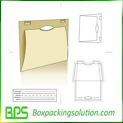 paperboard file folder die line template