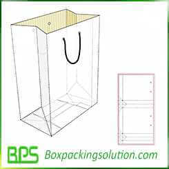 paperboard shopping bag design template