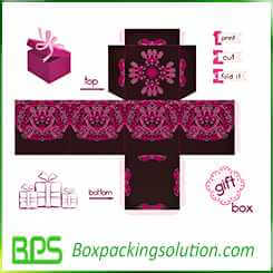 present box design template
