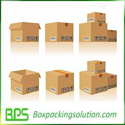 regular slotted carton box 3D version