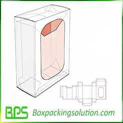 reverse tuck end box with window design template