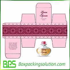 reverse tuck end packaging boxes for perfume bottle