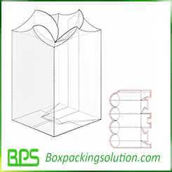 special shape packaging box design layout