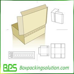 tearing off cardboard mailer box die line template